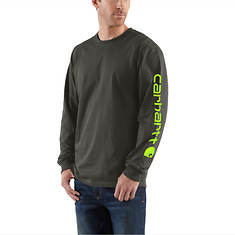 Carhartt Men's Signature Sleeve Logo Long-Sleeve T-Shirt