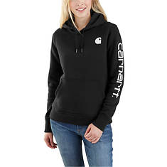 Carhartt Women's Clarksburg Sleeve Logo Hooded Sweatshirt