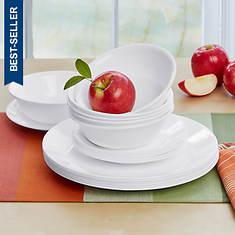 Corelle 18-Piece Winter Frost Dinnerware Set