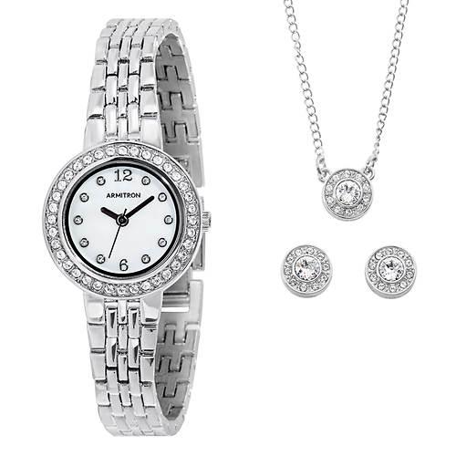 Armitron Women's Watch, Necklance & Earrings