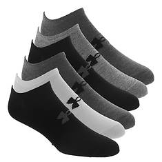 Under Armour Men's Essential Lite No Show 6-Pack Socks