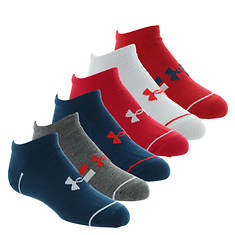 Under Armour Boys' Essential Lite No Show 6-Pack Socks