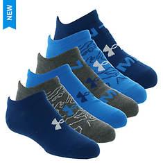 Under Armour Boys' Essential Lite No Show 6-Pack Socks