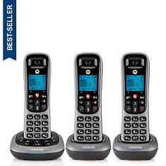 Motorola Cordless Answering System Base and 3 Handsets