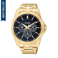 Citizen Men's 42mm Gold Stainless Steel Black Dial Watch