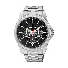 Citizen Men's 42mm Stainless Steel Black Dial Watch