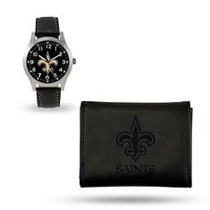 NFL Watch & Wallet Set-Black