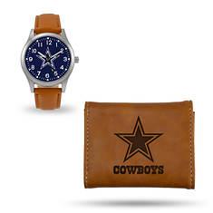 NFL Watch & Wallet Set-Brown