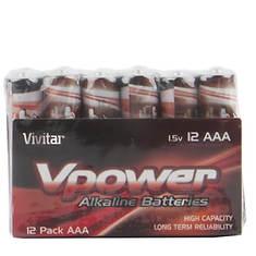 Vivitar 100-Pack AAA VPower Alkaline Batteries