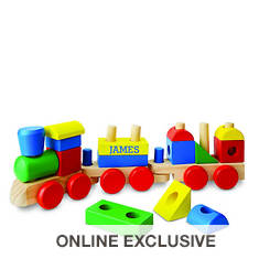Melissa & Doug Personalized Stacking Train