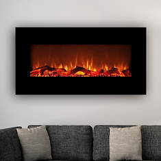 "Lifesmart 34"" On-the-Wall Fireplace Heater"