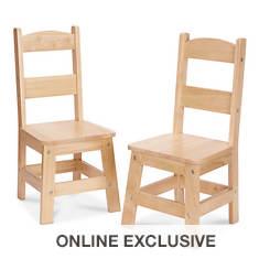Melissa & Doug Wooden Chair Pair
