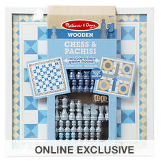 Melissa & Doug Wooden Chess and Pachisi