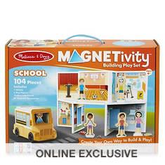 Melissa & Doug Magnetivity-School with School Bus