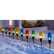 10-Piece Giant Bulb Pathway Lights