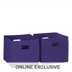 2-Piece Folding Storage Bin Set
