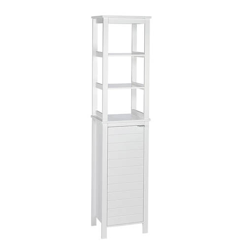 Madison Linen Tower with Open Shelves