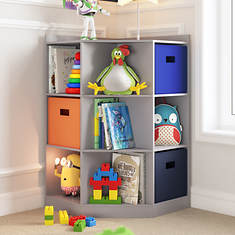 Corner Cabinet with Cubbies and Shelves