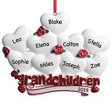 Personalized Grandchildren with Hearts Ornament