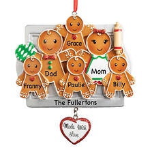 Personalized Made with Love Family Ornament