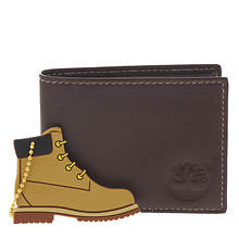 Timberland Men's Slimfold Wallet & Key Chain Set