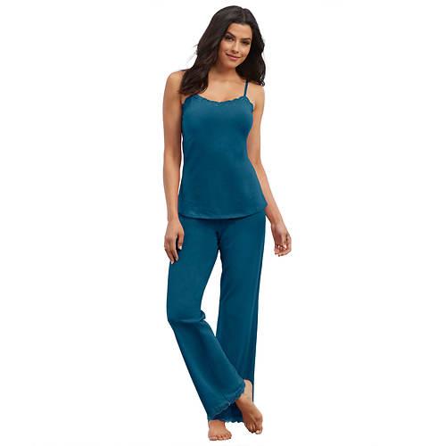 Lace-Trimmed Pant Pajama Set