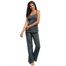 Lace-Trimmed Pant Pajama Set