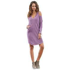 Cold Shoulder Dress Hoodie