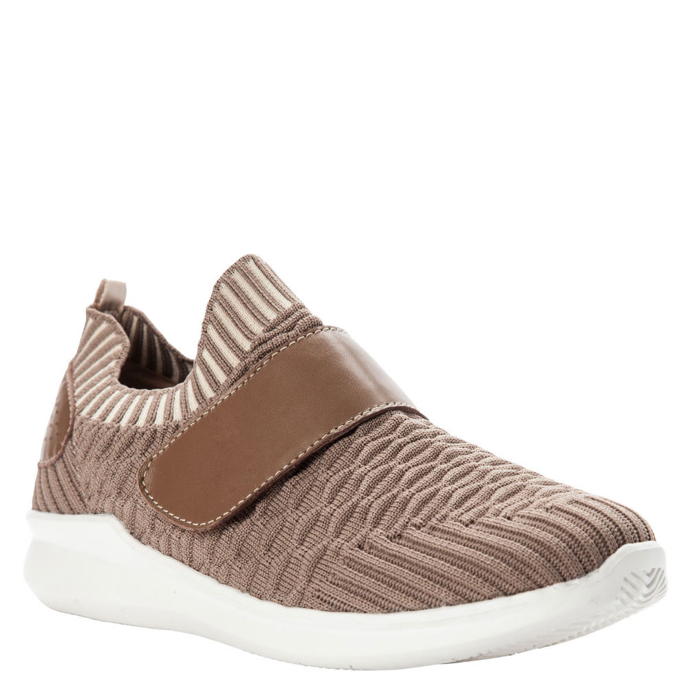 *Step out in style and comfort in this fashionable athleisure sneaker *Variable stretch sock knit upper *Adjustable hook-and-loop closure *Removable synthetic insole with gel heel pad and cushioning ridges *Arch-supporting EVA midsole *Rubber outsole for durable wear and traction *1-1/4\\\
