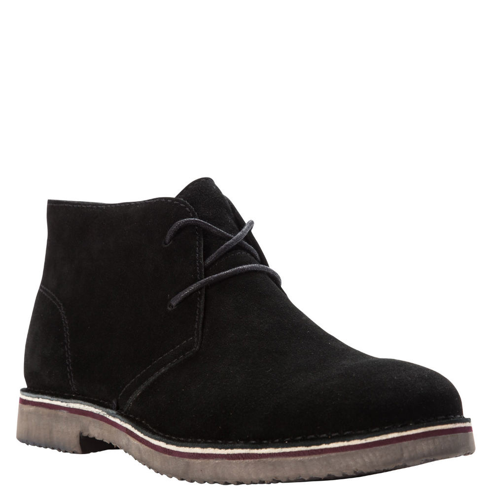 *Take on your day in comfort with this dapper boot *Suede upper with stitch detail *Lace-up closure *Removable footbed *Durable rubber outsole