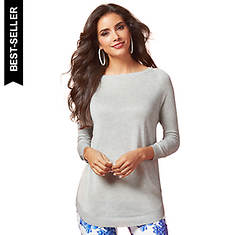 Circle Hem Lightweight Sweater