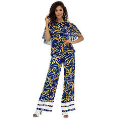 Printed Cape Pant Set