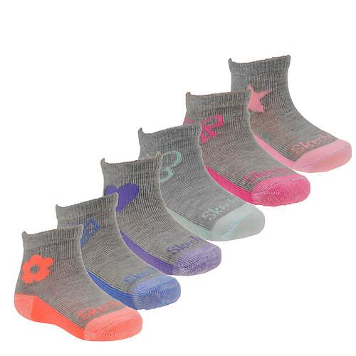 Skechers Girls' S110567 6Pk Infant Non Terry Anklet