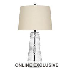 Catalina Lighting 29'' Glass Table Lamp
