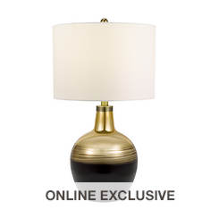 Catalina Lighting 31.25'' Electro Glass Table Lamp