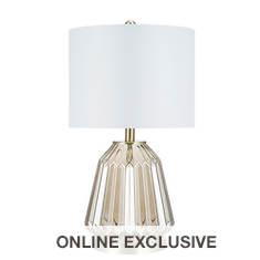 "Catalina Lighting 24"" Glass Table Lamp"