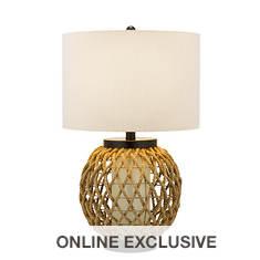 Catalina Lighting 29'' Woven Hemp/Glass Table Lamp