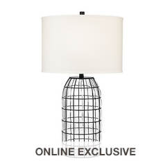 Catalina Lighting 32'' Caged Blown Glass Table Lamp