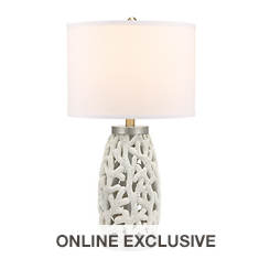 Catalina Lighting 31'' Coral Table Lamp with Nightlight