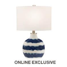 Catalina Lighting 31'' Striped Ceramic Table Lamp