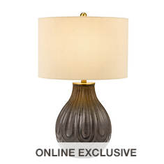 Catalina Lighting 28'' Faux Wood Table Lamp