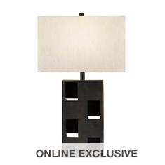 Catalina Lighting 30.5'' Rectangular Patterned Table Lamp