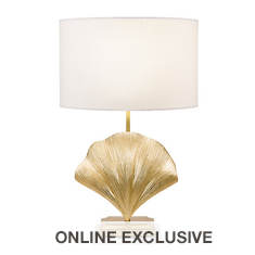 Catalina Lighting 25.25'' Art Deco Seashell Table Lamp