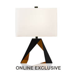 Catalina Lighting 30'' Rectangular Metal Table Lamp