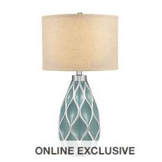 Catalina Lighting 31.5'' Diamond Lattice Table Lamp