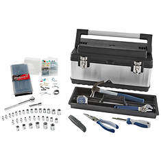 65-Piece Stainless Steel Toolbox Kit