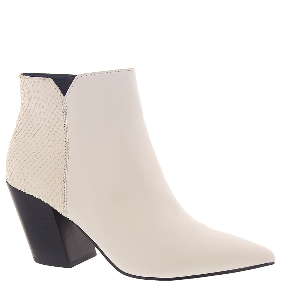 *Spice up your tailored looks with the clean lines of this chic bootie *Leather upper with pointed toe *Side zipper closure *Lightly cushioned footbed *3\\\