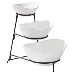 Gibson 3-Tier Bowl Serving Set