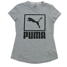 PUMA Women's Stacked Logo Tee