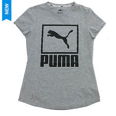 PUMA Women's Stacked Logo Tee